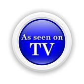 As seen on TV icon — Stock Photo