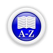 A-Z book icon — Stock Photo