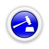 Judge hammer icon — Stock Photo