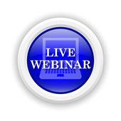 Live webinar pictogram — Stockfoto