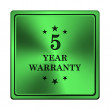 Stock Photo: 5 year warranty icon