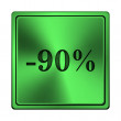 Stock Photo: 90 percent discount icon