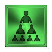 Schemat organizacyjny ikoną ludzi — Zdjęcie stockowe