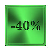 40%的折扣图标 — 图库照片