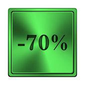 70%的折扣图标 — 图库照片