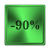 Yüzde 90 indirim simgesi — Stok fotoğraf