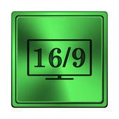 16 9 tv simgesi — Stok fotoğraf