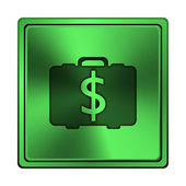 美元袋图标 — 图库照片