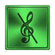 Stock Photo: Musical note - no sound icon