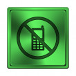 Stock Photo: Mobile phone restricted icon