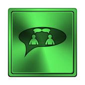 иконка чат - мужчин в пузырь — Стоковое фото