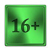 16 más el icono — Foto de Stock