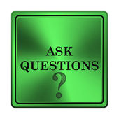 Ask questions icon — 图库照片