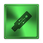 Ícone da unidade flash Usb — Fotografia Stock