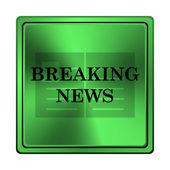 Breaking news-symbol — Stockfoto