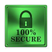 100 prozent sichere symbol — Stockfoto