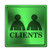 Clients icon — Stock Photo
