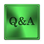 Q&A icon — Stock Photo