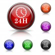 24H clock icon — Stock Vector