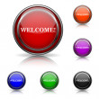 Welcome icon — Stock Vector