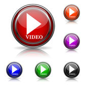 Video play icon — Stock Vector