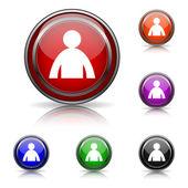 User profile icon — Stock Vector
