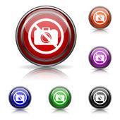 Icono de cámara prohibida — Vector de stock