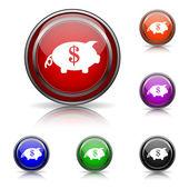Zapisz pieniądze ikona — Wektor stockowy