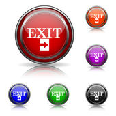Exit icon — Stock Vector