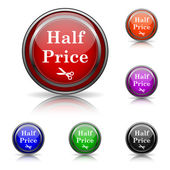 Half price icon — Stock Vector
