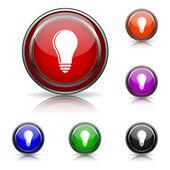 Light bulb - idea icon — Stock Vector