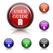 Ikonę przewodnik użytkownika — Wektor stockowy