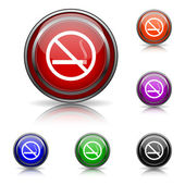 No smoking icon — Stockvector