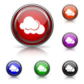 Clouds icon — Stock Vector