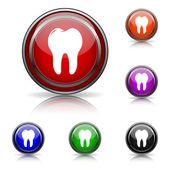 歯のアイコン — ストックベクタ