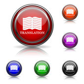 Translation book icon — Vector de stock