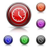 значок часов — Cтоковый вектор