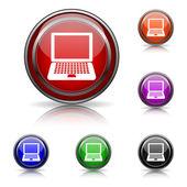 Ikona laptopa — Wektor stockowy