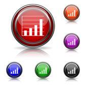ícone de gráfico barras — Vetorial Stock