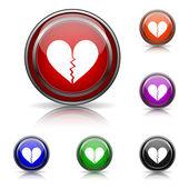 иконка разбитое сердце — Cтоковый вектор