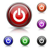 Ikona przycisku zasilania — Wektor stockowy