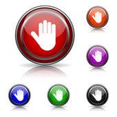 Stop icon — Stock Vector