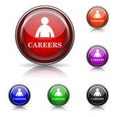 карьера значок — Cтоковый вектор