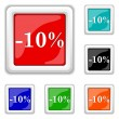 10 percent discount icon — Stock Vector