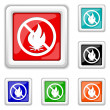 Fire forbidden icon — Stock Vector #44612857