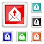 Send e-mail icon — Stock Vector #44613733
