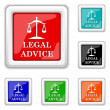 Legal advice icon — Stock Vector #44616019