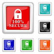 100 percent secure icon — Stock Vector