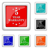 5 year warranty icon — Stock Vector