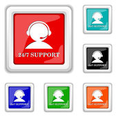 24-7 Support icon — Stockvektor
